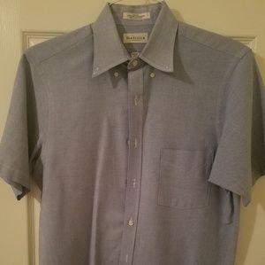 Van Heusen Blue short sleeve Oxford button down